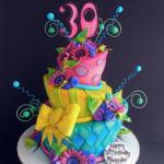 wonky whimsical cake