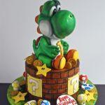 Yoshi dinosaur cake